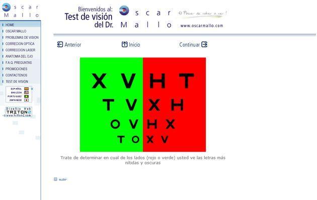 Diversos tests online para comprobar tu visión http://bit.ly/AcXcR1