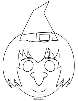 Printable Witch Mask Halloween Masks Printable Halloween Masks Coloring Mask