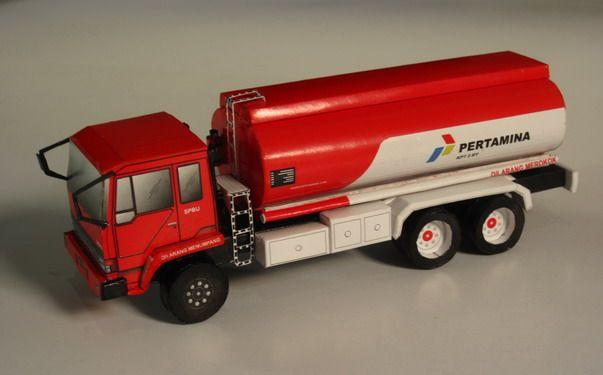 Pertamina Oil Truck Papercraft Truck Design Trucks Cool Truck