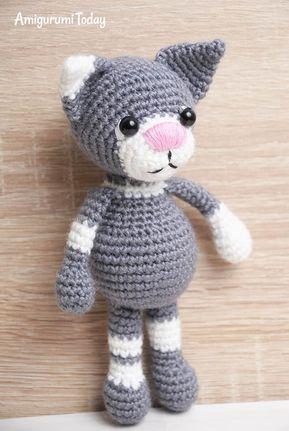 Toby die Katze - Kostenlose Häkelanleitung   Tiere, Puppen, Bären ...
