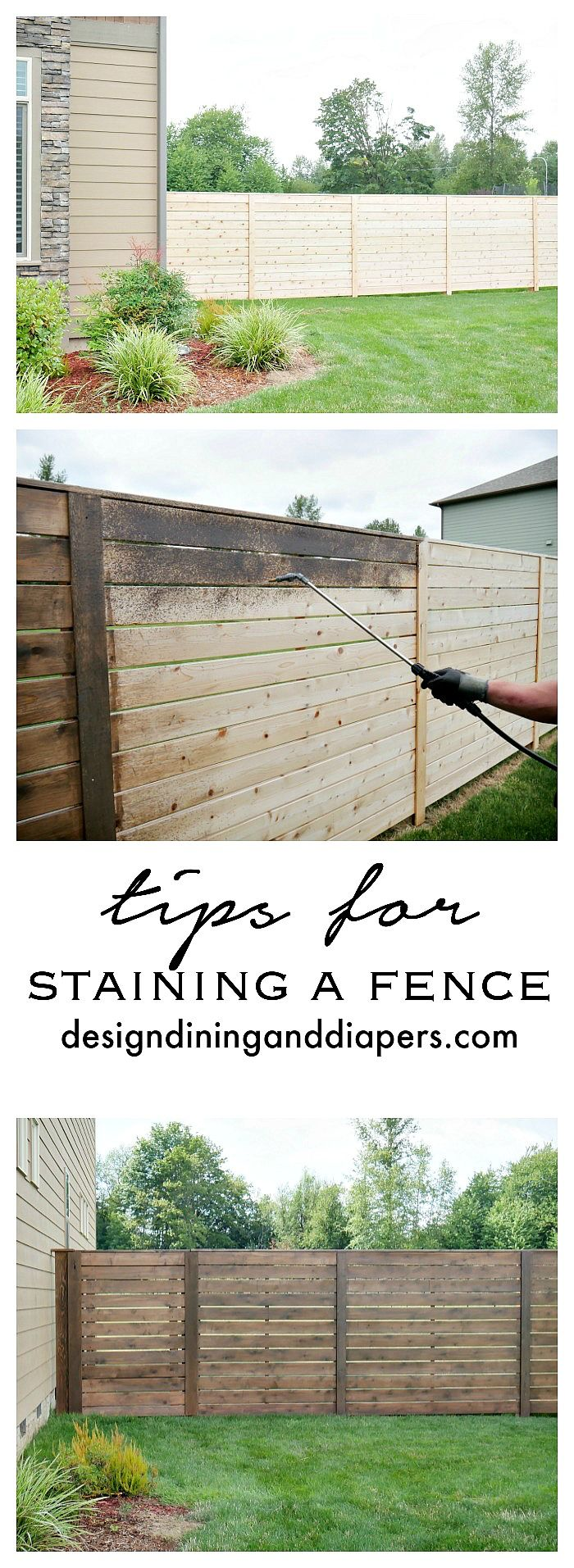 Tips For Staining A Fence | Pinterest | Fences, Backyard and Yards