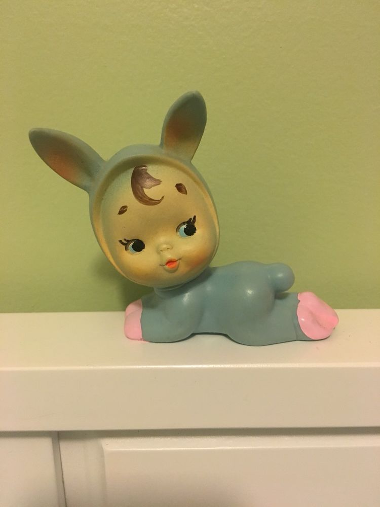 Vintage Rare Rubber Ninohira Doll Kewpie Bunny Doll Bunny Doll Kewpie Vintage Dolls