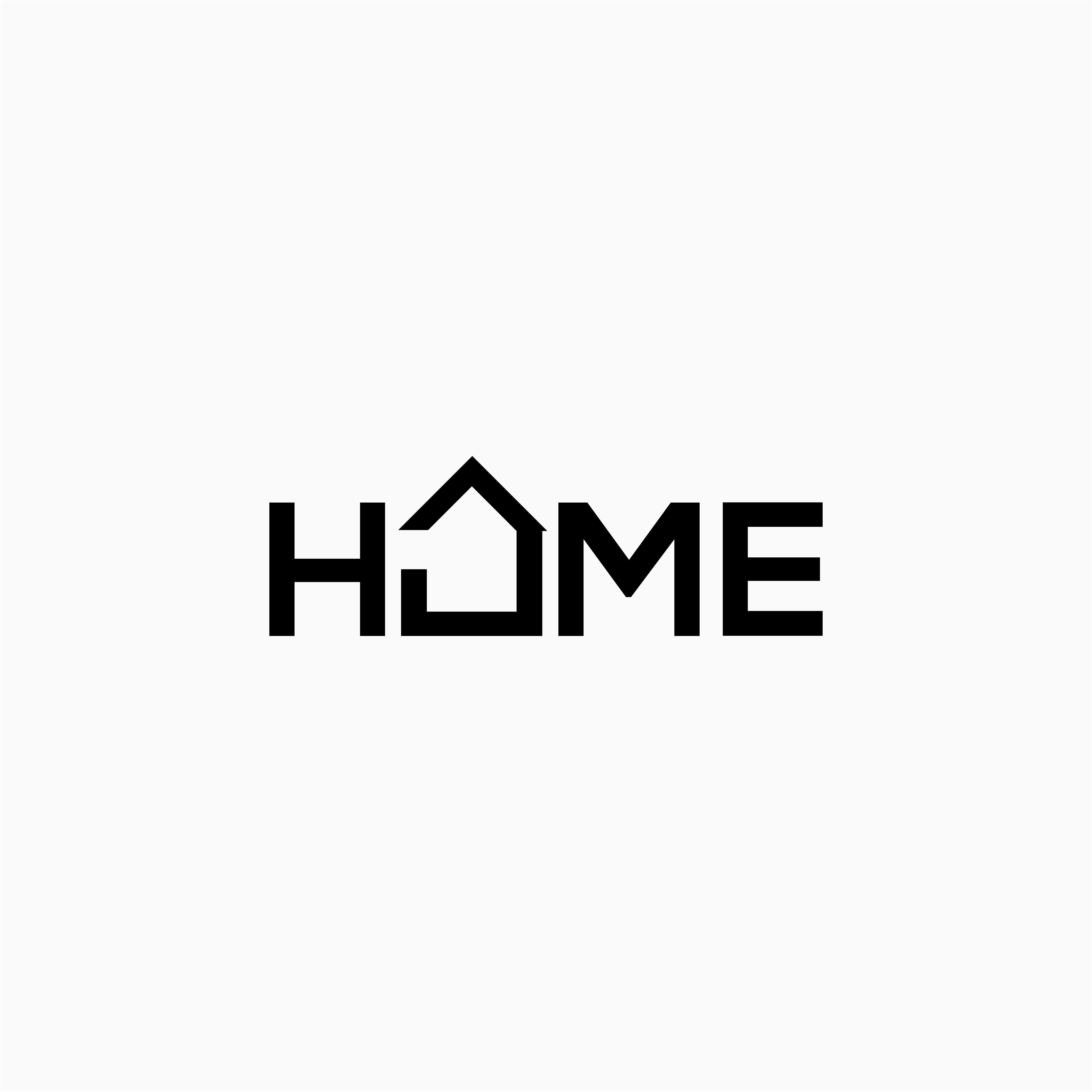 HOME 30/100. Typographic logo design, House logo design