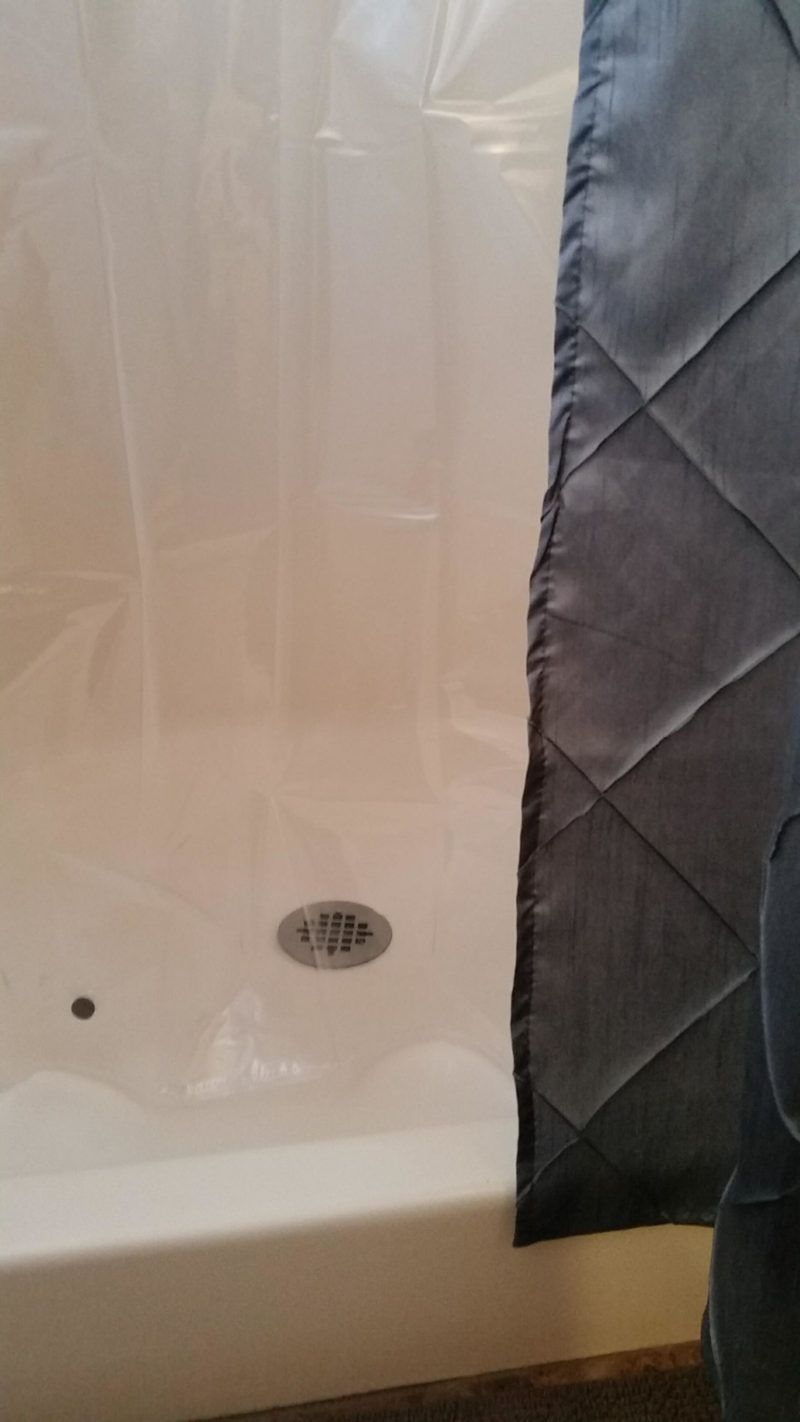 Vinyl shower curtain liners are SO hard to keep clean Learn these 3