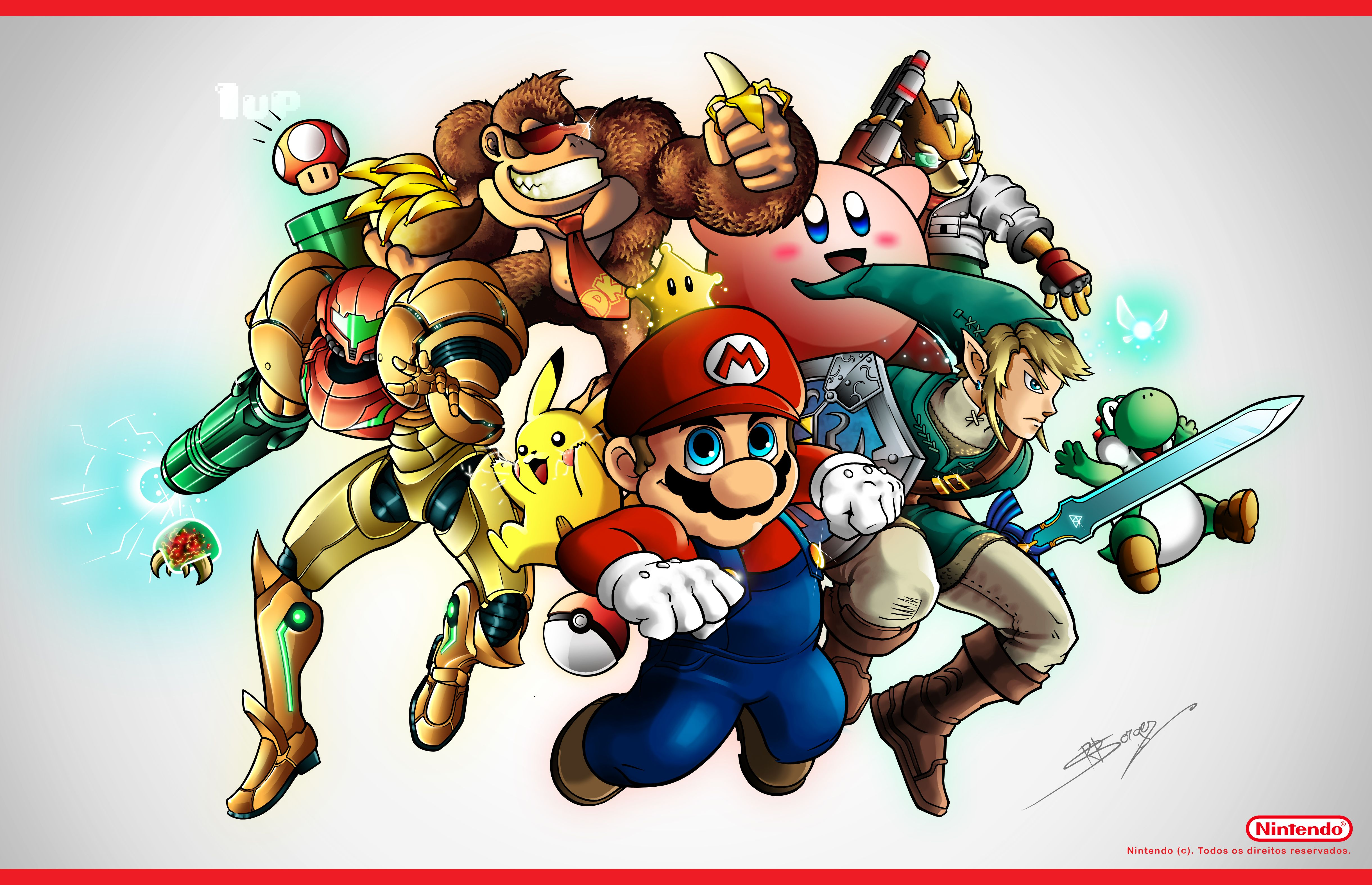 Large Hd Super Smash Bros Wallpaper Nintendo Art Super
