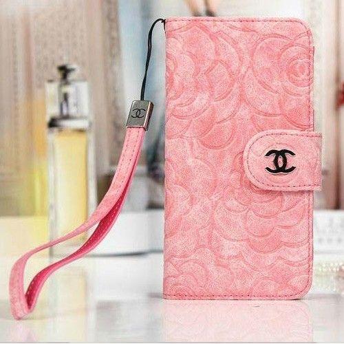 coque/étui/portefeuille Chanel rose vintage pour iphone 6/6 plus ...