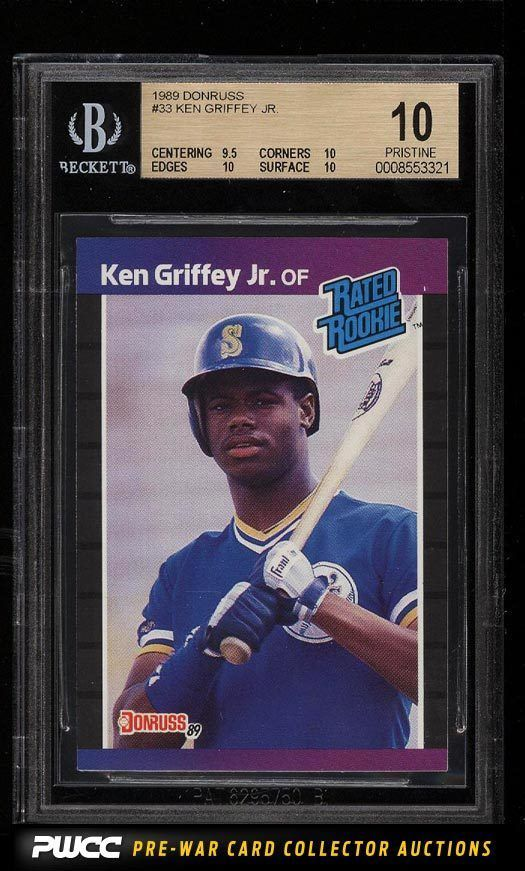 Details About 1989 Donruss Ken Griffey Jr Rookie Rc Bgs 8