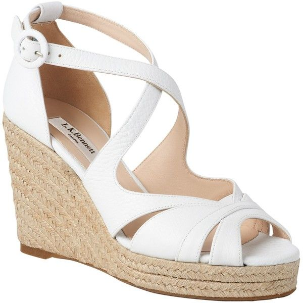 735a218c84d L.K. Bennett Maggie Espadrille Wedge Heeled Sandals (€235) ❤ liked on  Polyvore featuring shoes