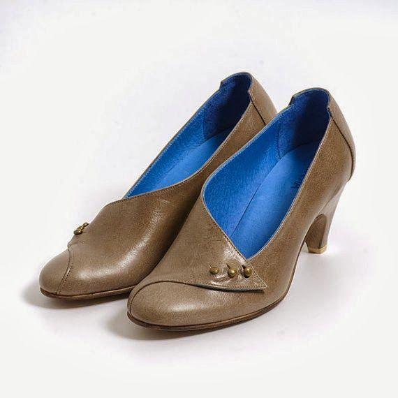Handmade gray heels from MYKAshop on Etsy