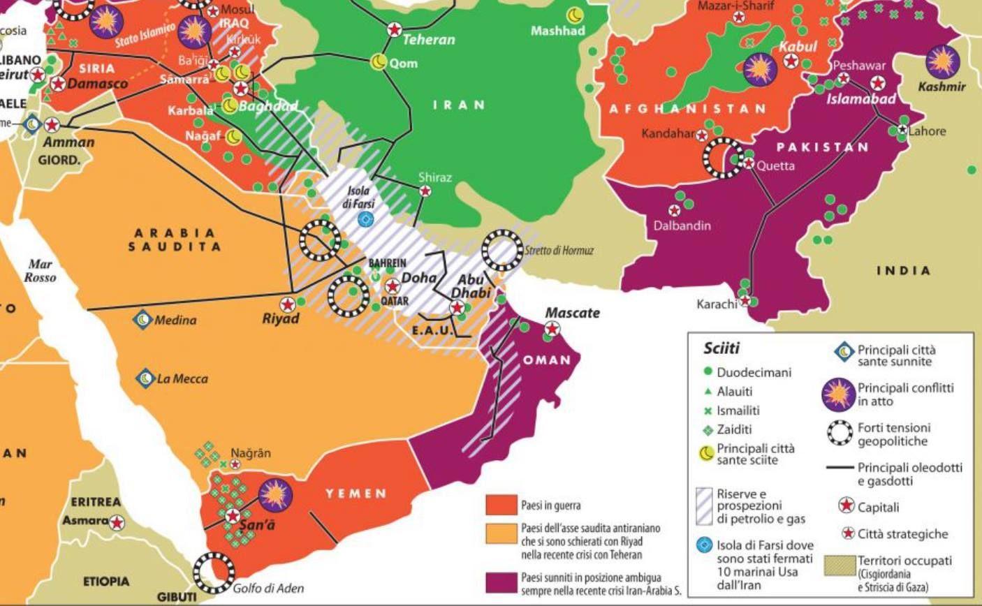 Cartina Oriente.Mappa Geopolitica Di Tutte Le Guerre In Medio Oriente Mappa Medio Oriente Medioevo