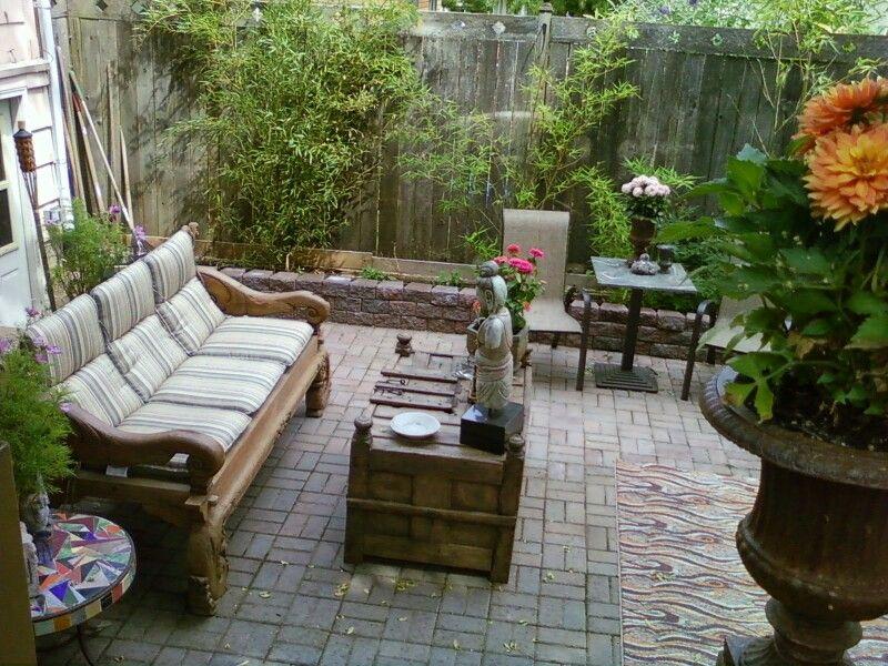 Backyard at time of basement remodel