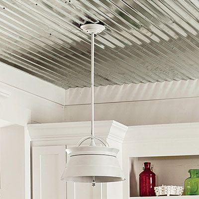 The Smartest Cottage We Ve Ever Seen Metal Ceiling Cottage Style Homes Kitchen Ceiling
