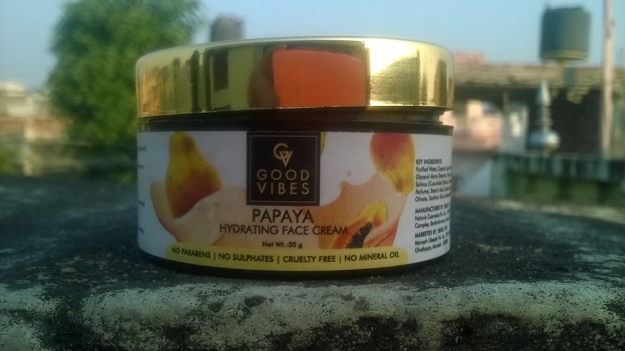 Good Vibes Papaya Hydrating Face Cream Hydrating Face Cream