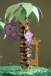Paper Jungle Centerpieces Birthdays Pinterest Geburtstag