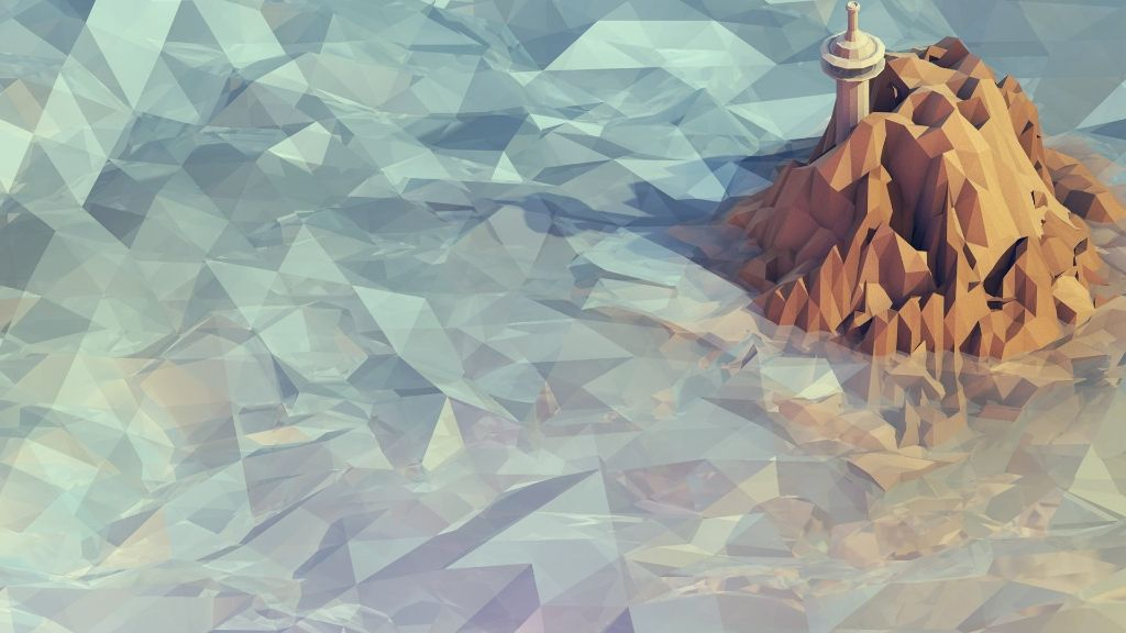 Low Polygon Icy Landscape Wallpaper | 3840x2160 | ID:50779 ...