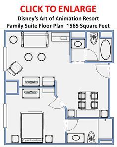 Review Family Suites At Disney S Art Of Animation Resort Continued Awesome Hotel Only Neg Art Of Animation Resort Disney Art Of Animation Disney World Map