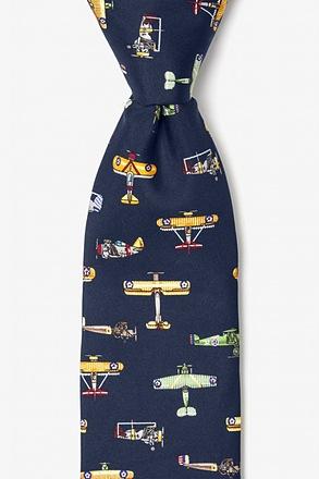 Vintage U.S. Warplanes Tie Navy blue tie, Blue ties