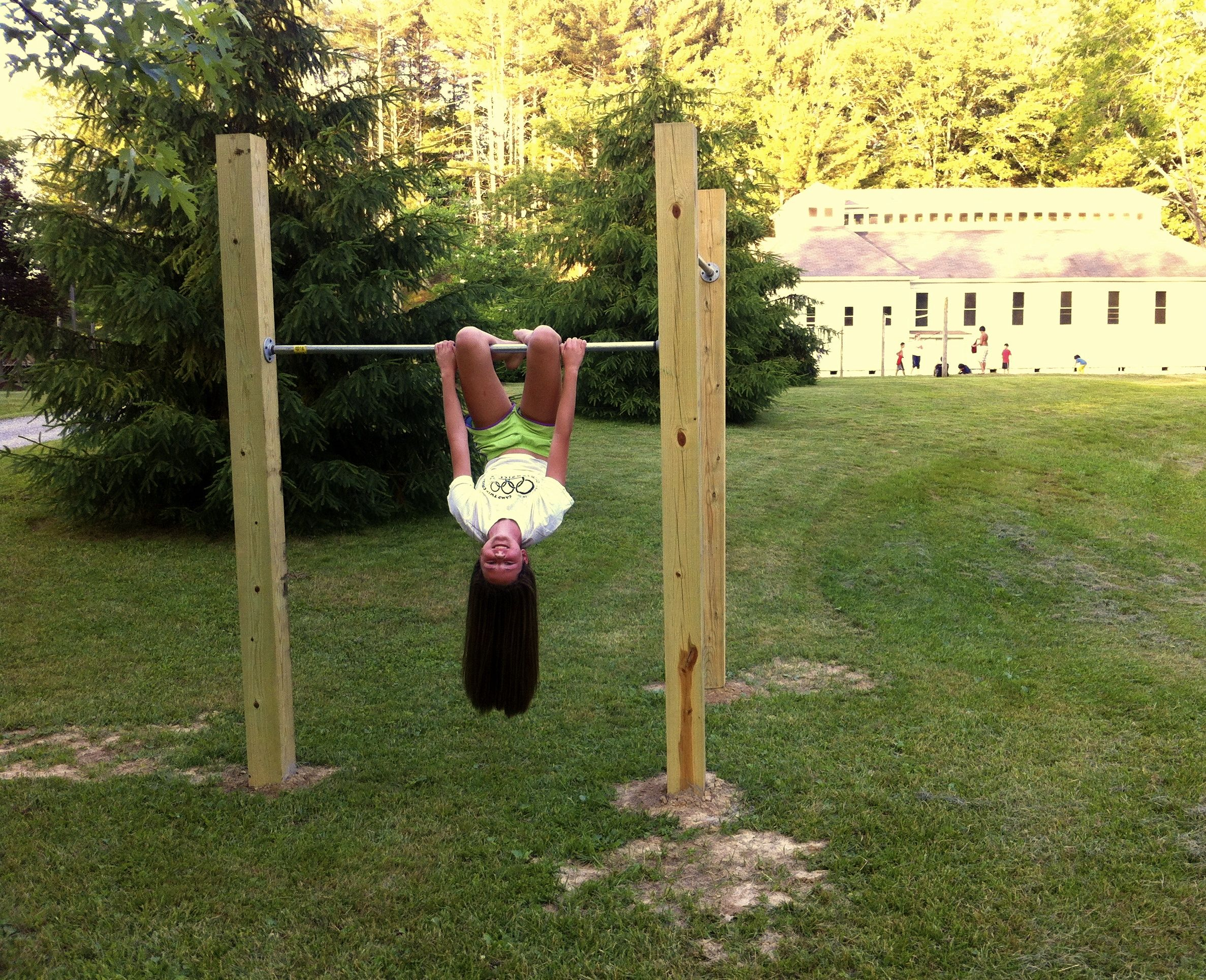 backyard pull up bar outdoor landscaping pinterest backyard