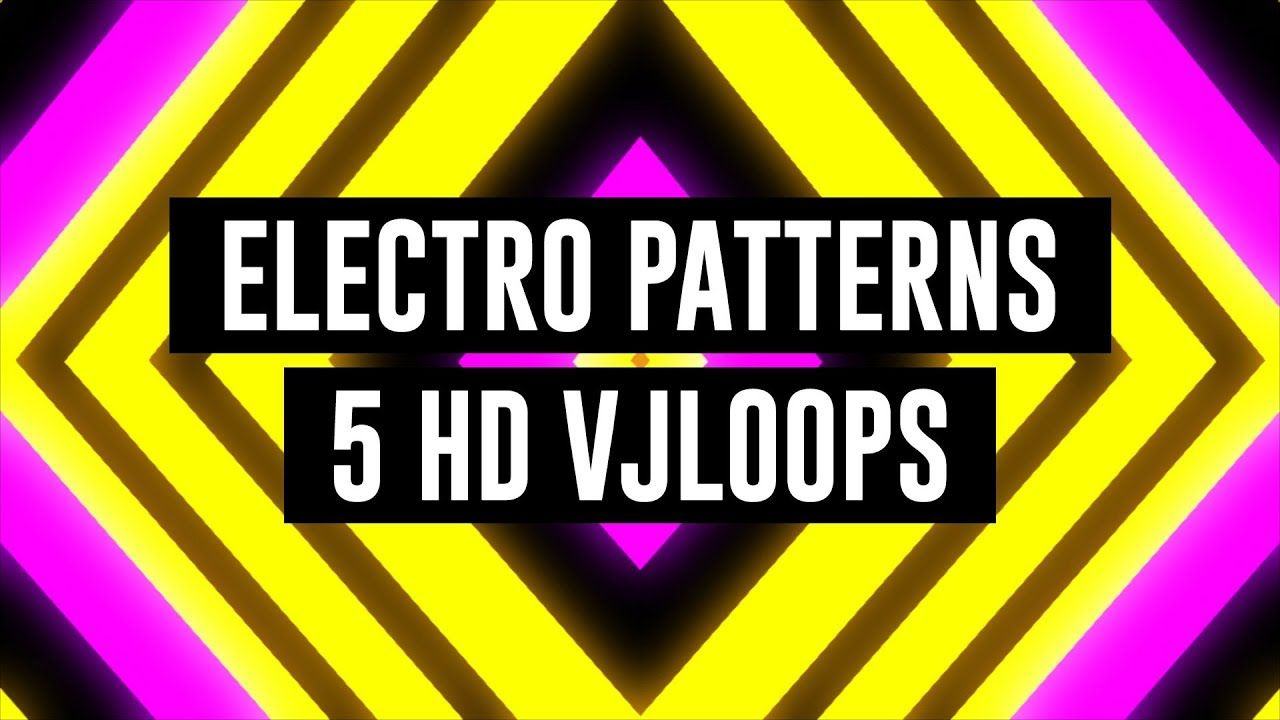 Electro Patterns VJ Loops Pack animation motion