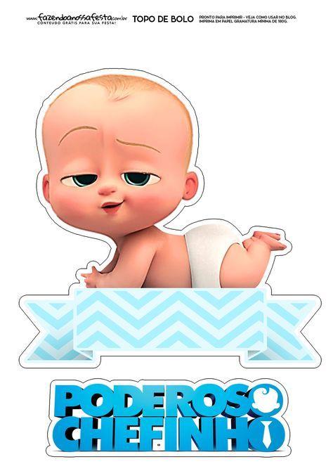 Topo De Bolo Poderoso Chefinho 3 Baby Boss Carte Invitation