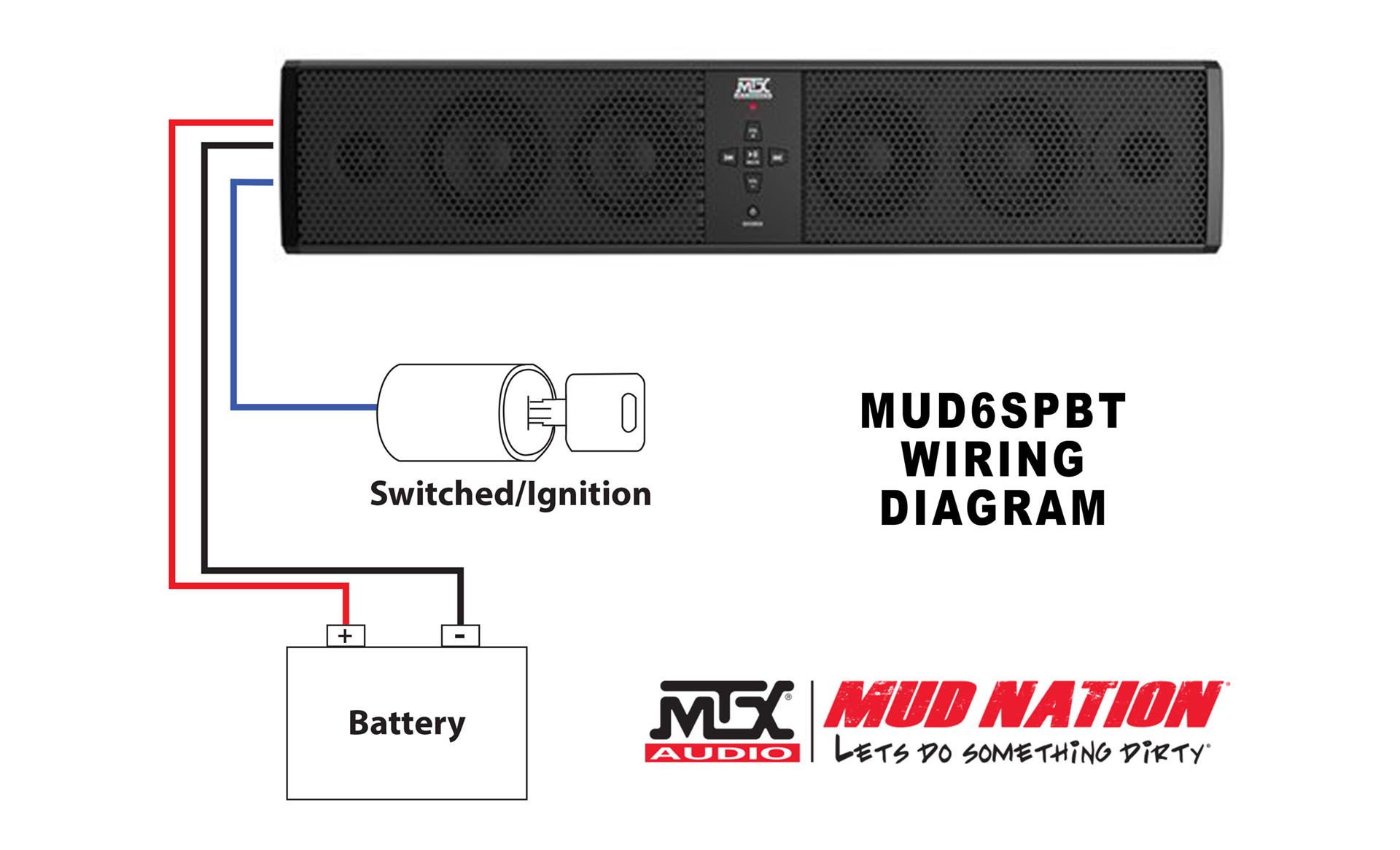 medium resolution of universal 6 speaker all weather sound bar with bluetooth mtx mtx sound bar wiring diagram