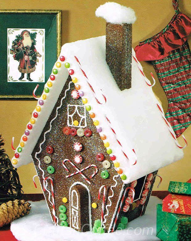 My kids would love decorating this faux gingerbread house. I love that I don't have to throw it out, and I can keep it for years. CraftsnCoffee.com
