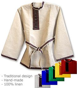 Kosovorotka - handsome, Russian style shirt for men.