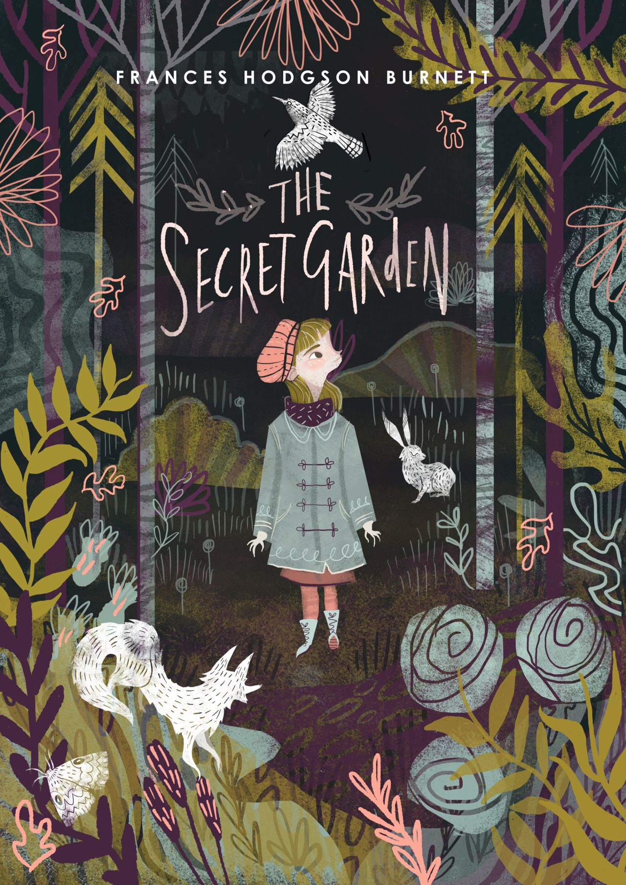 Matched Book Cover Drawing : The secret garden book cover design by karl james