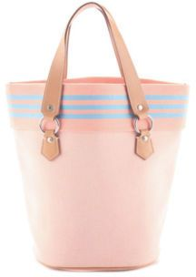 0909f051f BURBERRY LONDON BLUE LABEL Pink Canvas Bucket Tote Handbag BC4429 MHL    EBAY PRE-OWNED saved by #ShoppingIS
