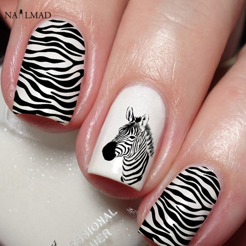 Nail Art Zebra Stripes: Zebra Nail Designs, Leopard Nail