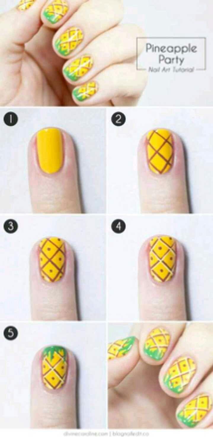 Diseño de uñas pintadas ☺ | uñas - manicure pedicure | Pinterest ...