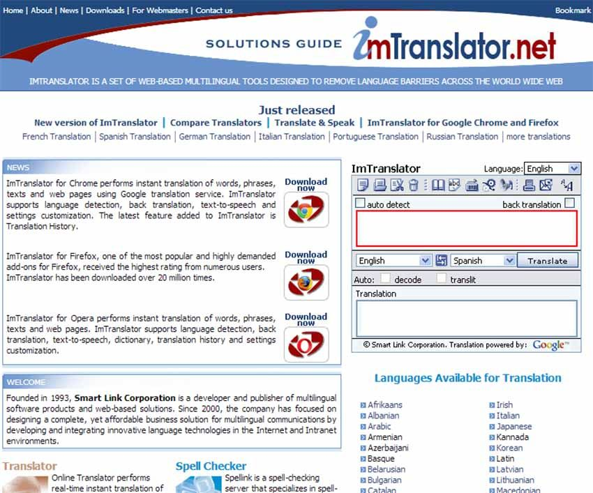 Obzor Otlichnogo Universalnogo Perevodchika Imtranslator Yazyk Teksty