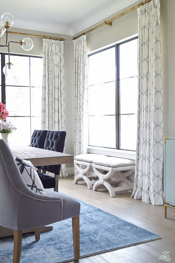 Windsor Smith Riad Custom Pleated Drapes Shown In Pearl