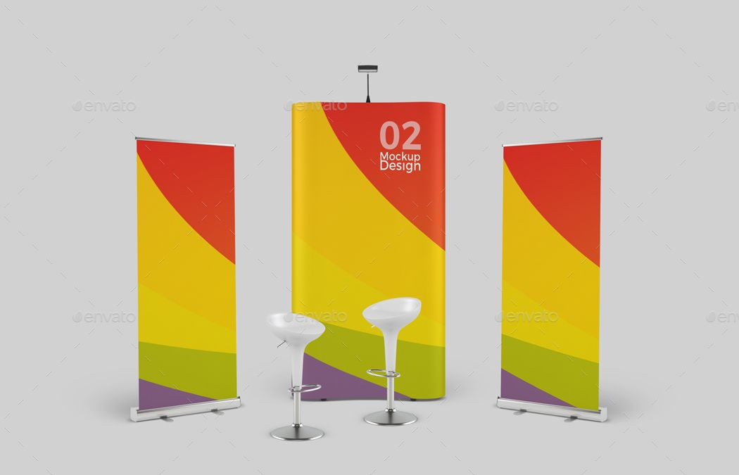 Free Trade Show Booth Mock Up In Psd Free Psd Templates Tradeshow Booth Show Booth Psd Template Free