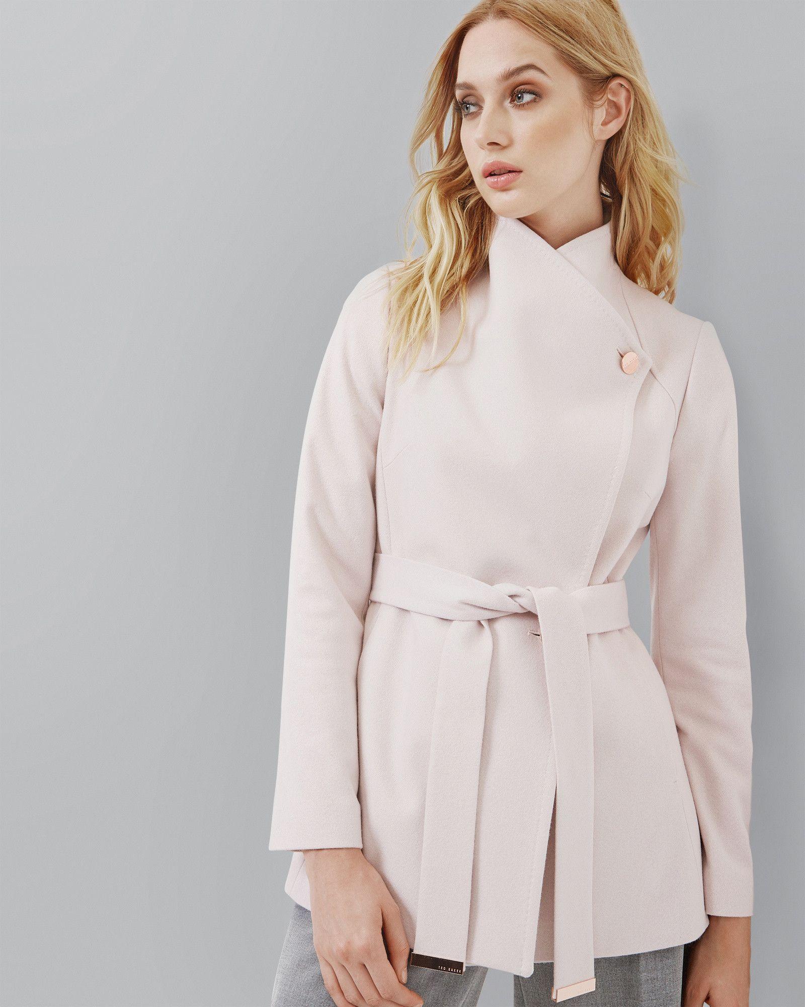 Short wrap coat - Pink | Jackets & Coats | Ted Baker AU | Buy It ...