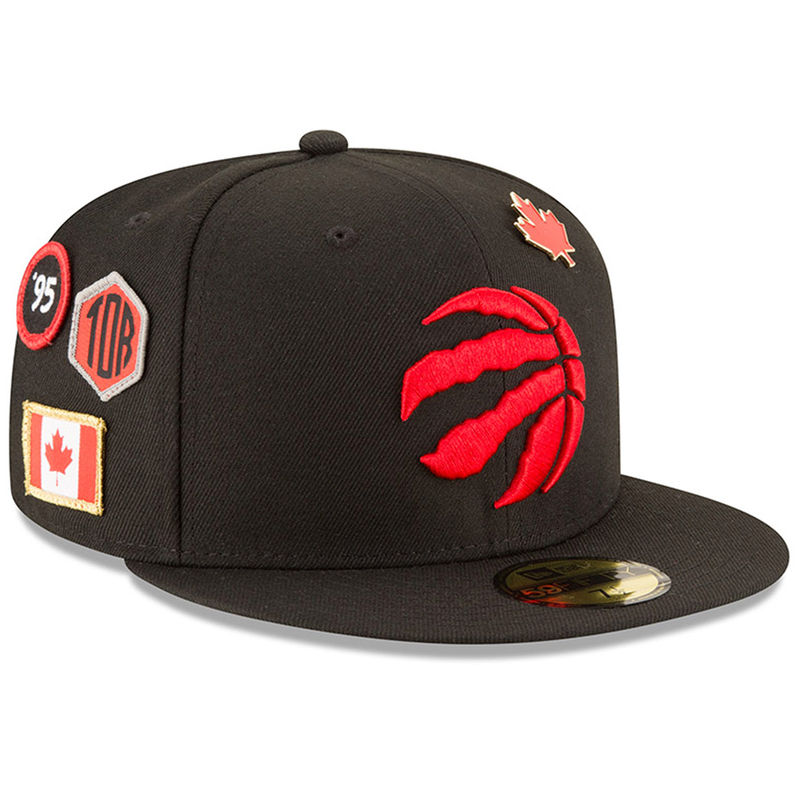 the best attitude 0ce8e 084e9 Toronto Raptors New Era 2018 Draft 59FIFTY Fitted Hat – Black