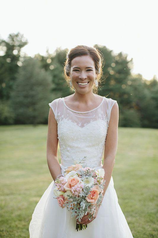 John + Amy - Brooke Courtney Photography / blush + nude wedding inspiration  / bride / wedding dress / bouquet / flowers / outdoor portrait /