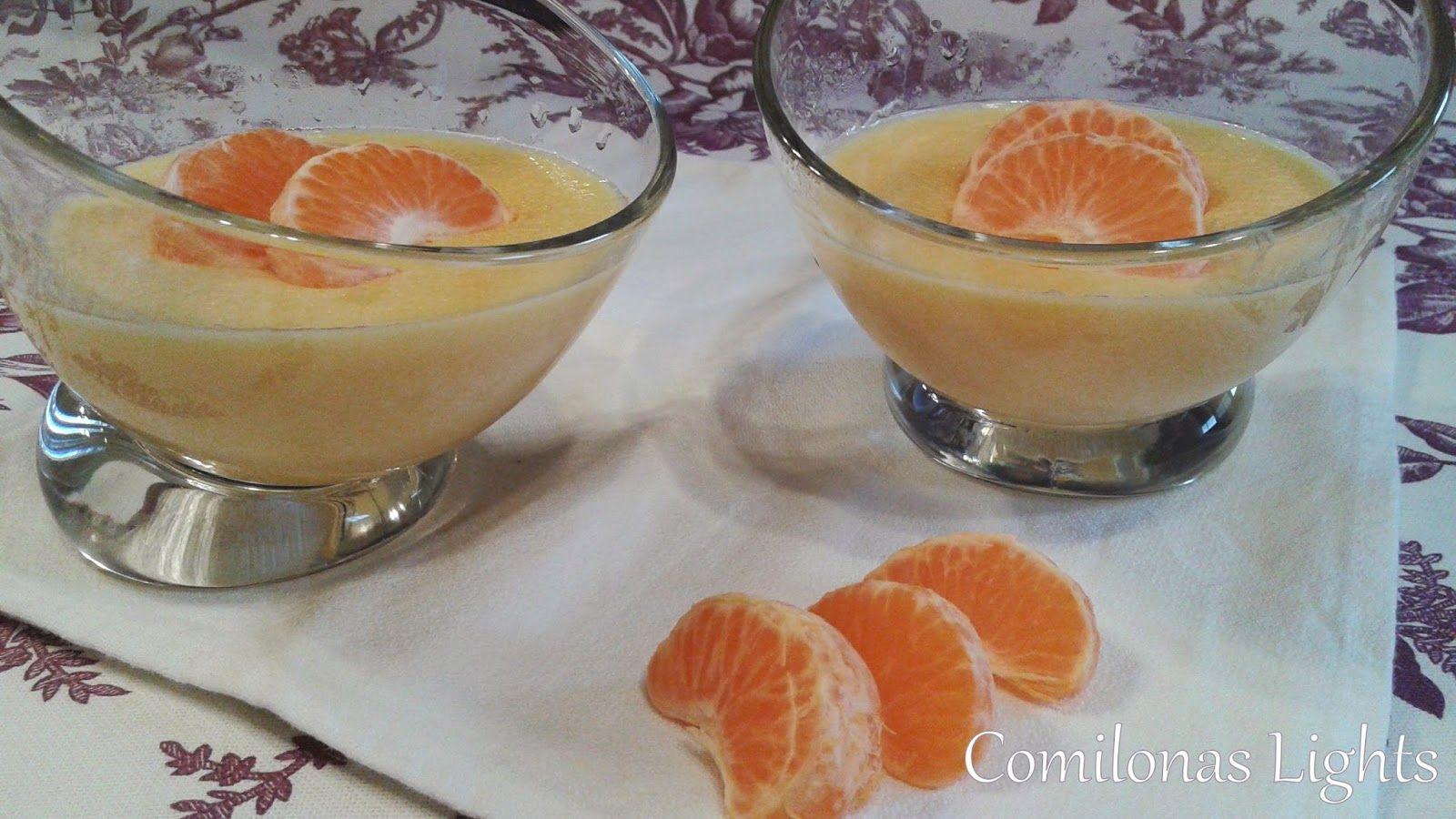 Comilonas Lights: Crema de mandarina