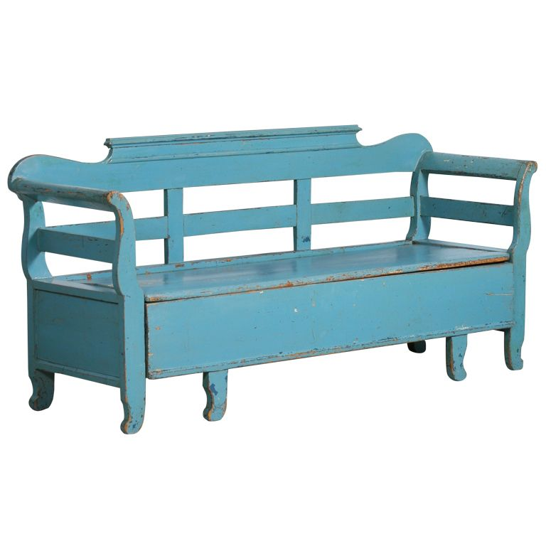 1stdibs Original Blue Painted Antique Swedish Bench Circa 1860 Explore Items From 1 700 Global Dealers At 1stdibs Old Benches Swedish Furniture Blue Paint