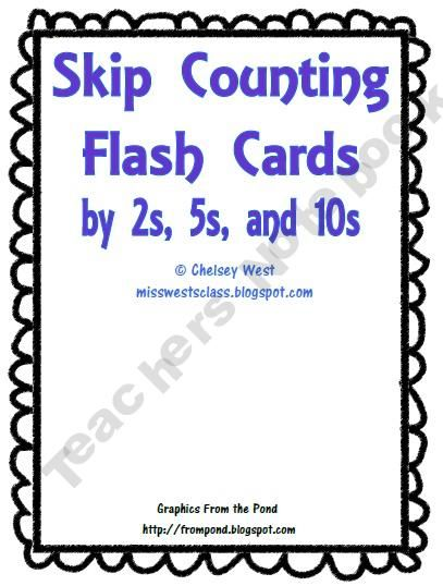 Skip Counting Flash Cards FREE PreK-2nd Grade Pinterest - flash card template