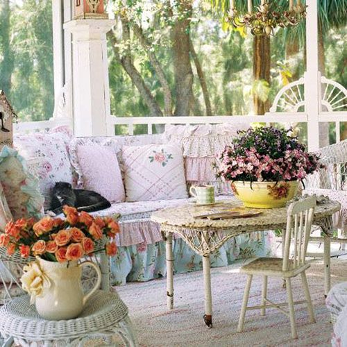 A covered back porch ...