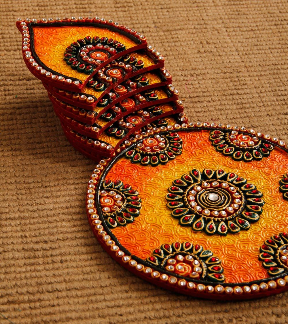 Plate Decoration For Gaye Holud: Hand Crafted Rangoli