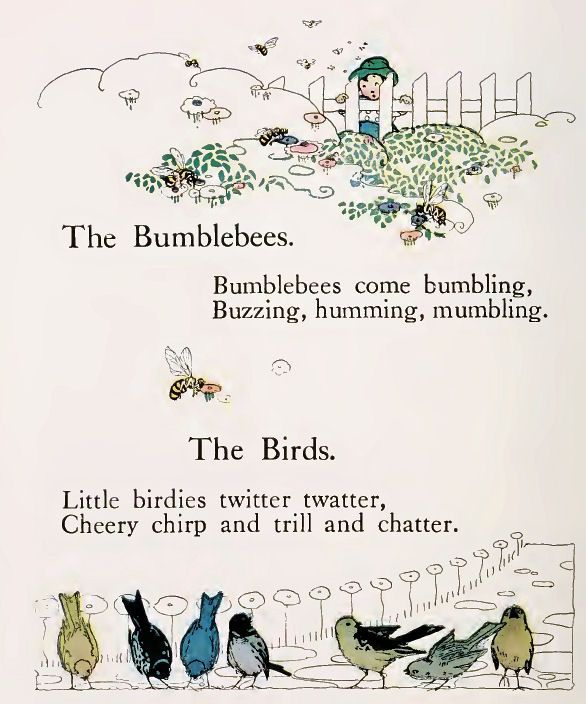 """""""Sunny Rhymes for Happy Children"""", rhymes by Olive Beaupre Miller, illustrations by Carmen L. Browne.  Published by Volland, 1917."""