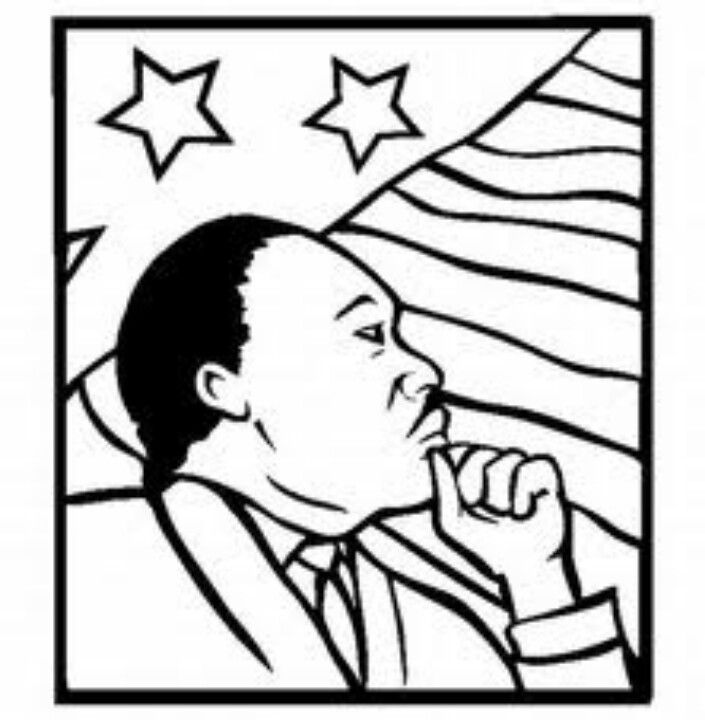 Martin Luther King Jr Coloring Page Martin Luther King