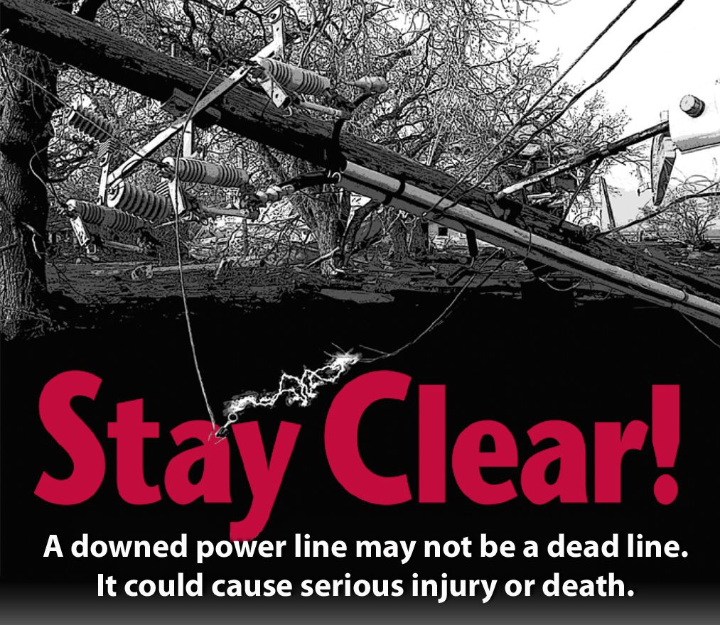Treat all power lines as though they are energized. Don't