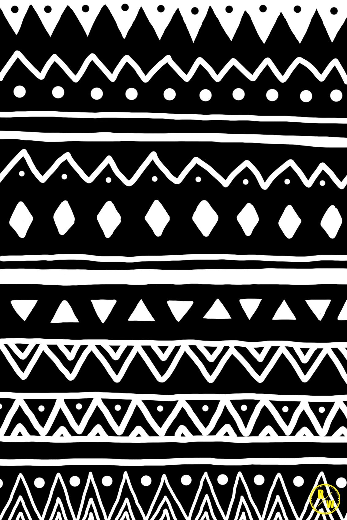 Tribal Patterns Black And White Tumblr Q Pattern