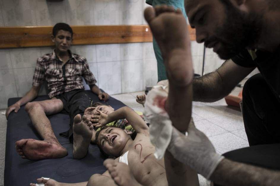 17 muertos en el bombardeo de una escuela de la ONU