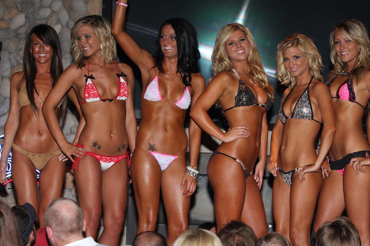 Brat bikini contest and nude