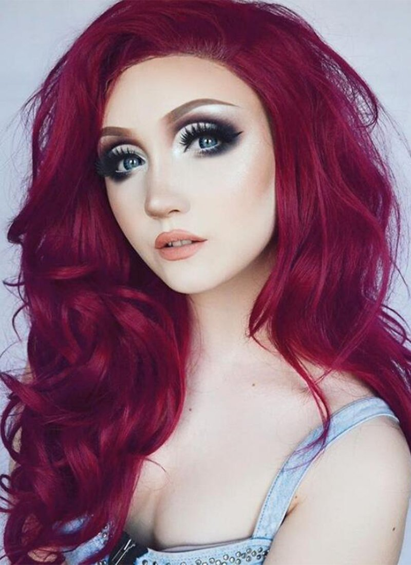 Fashion Sexy Elements of style Red Curly Heat Resistant