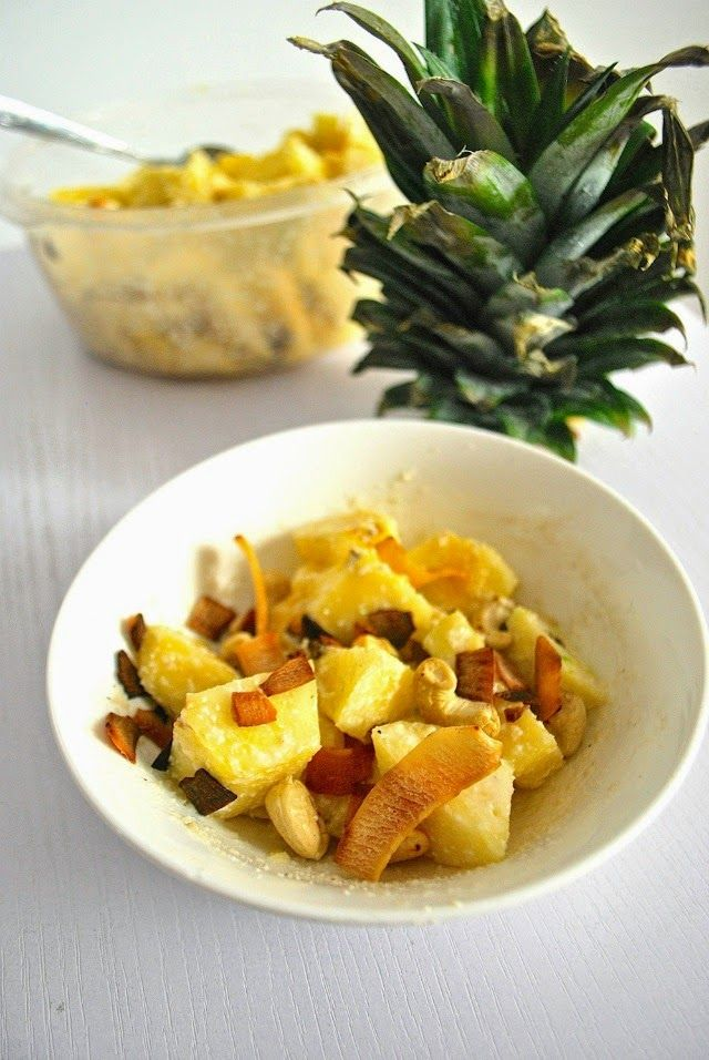 Pineapple + coconut salad. CANDY. /// yesandyes.org